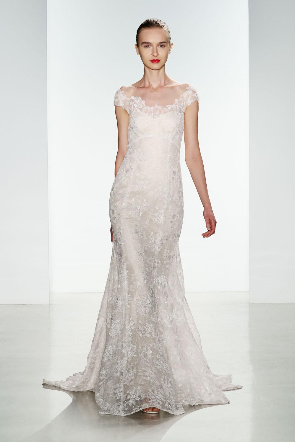 Wedding dress lace wedding dress bridal gown christos for Lace shoulder wedding dress