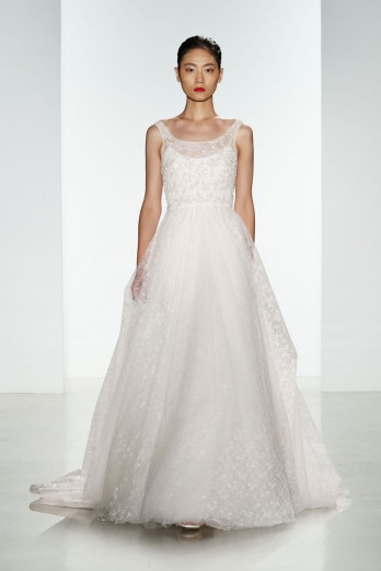 christos bridal tulle ballgown with lace and crystal bodice