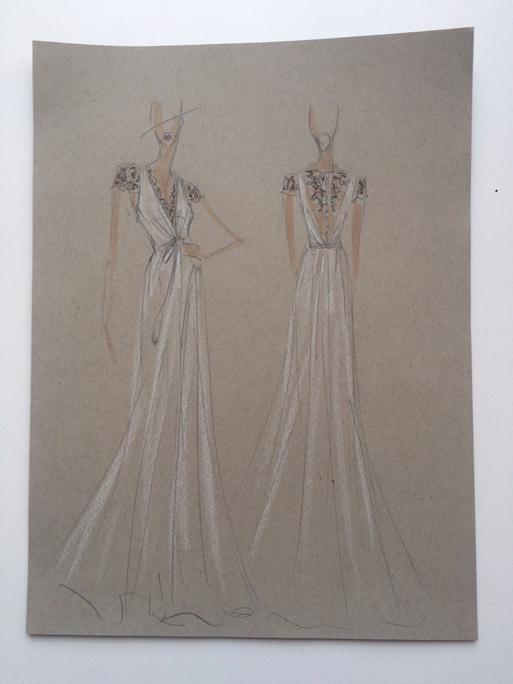 Wedding dresses_bridal gown_sketch