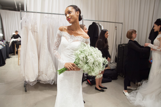 Wedding Dress By Christos Bridal Backstage With Tilly At New York Fashion Week