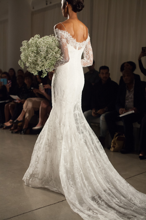 Wedding Dresses By Christos Bridal Tilly Long Sleeve Lace Gown